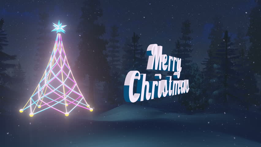 Animated Rotating Merry Christmas Text Stockvideos & Filmmaterial ...