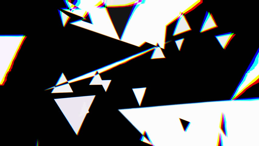 Abstract graphic composition including video footage and computer generated elements mixed together.