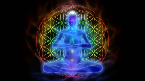 Yoga and meditation, symbol flower of life