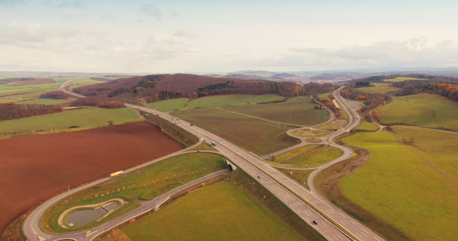 Autobahn Thüringen Eisenach aus der Luft in 4K Apple Prores 422