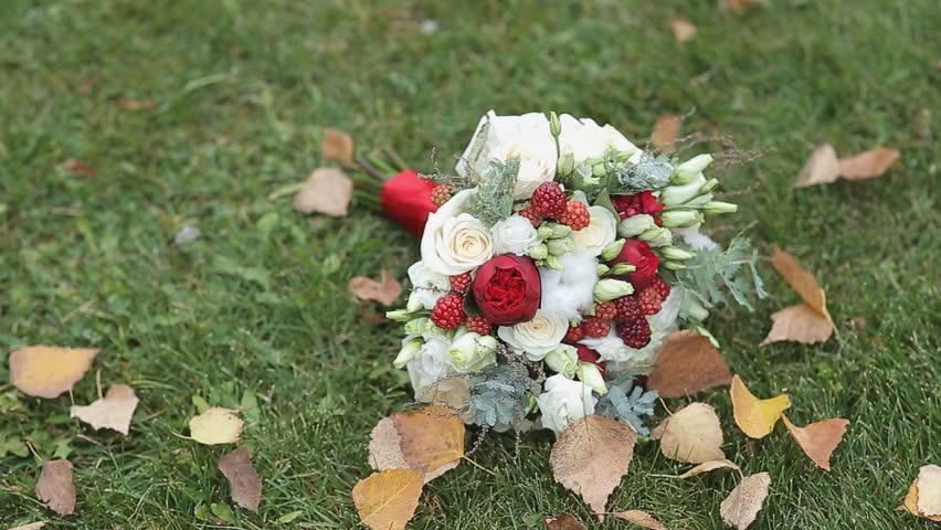 Wedding flowers on the grass | Shutterstock HD Video #12768167