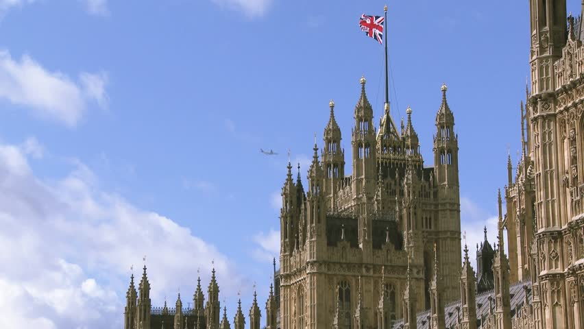 Union Jack on House of Parliament