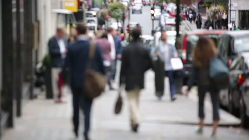 Crowds of Londoners walking, London, England #12782756