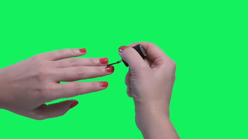 Nail Polish Female Hands Over Stock Footage Video (100% Royalty ...