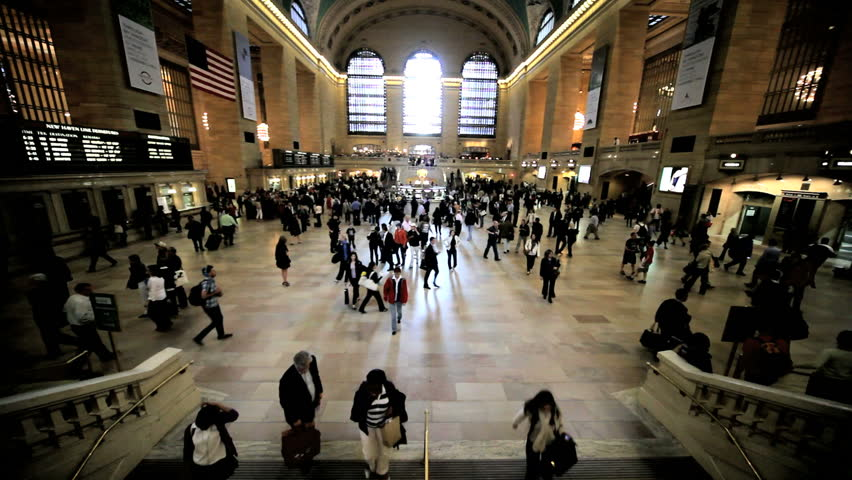 NEW YORK - MAY 6: Passengers traveling through Grand Central Station May 6, 2011 in New York, NY. Grand Central is a terminal station at 42nd Street and Park Avenue in Midtown Manhattan. It is the largest train station in the world by number of platforms.