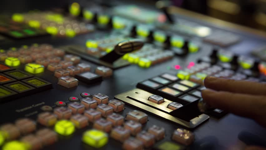 Broadcast Tv Studio Production - Vision Switcher  Studio Director broadcast video mixer operation - Close-up of hand | Shutterstock HD Video #12816383