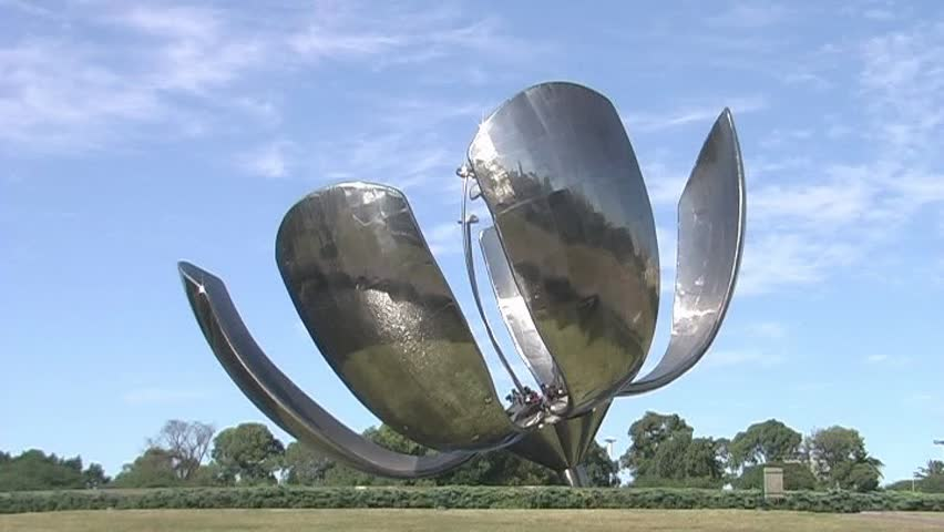 Floralis Generica, A Large, Flower-shaped Metal Sculpture ...