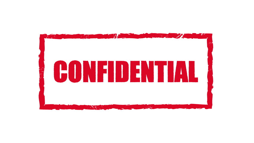Confidential Rubber Stamp Stock Video Footage