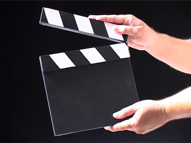 Hand drawing a clap board film slate on blueprint paper stock real actions clapping sd stock footage clip malvernweather Image collections