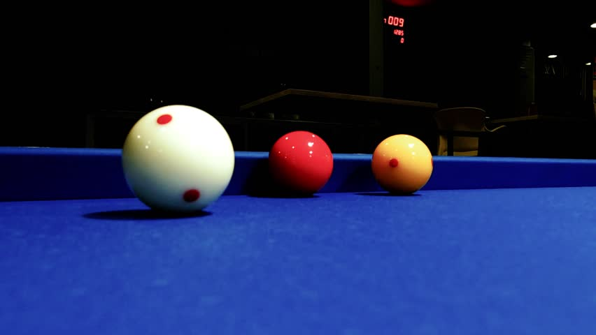 3 Balls Billiards   HD Stock Footage Clip