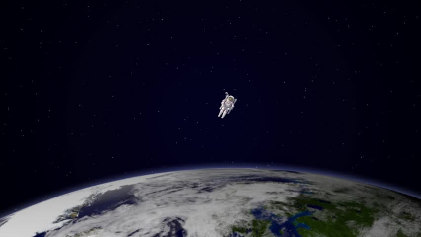 an astronaut floating in space - photo #31