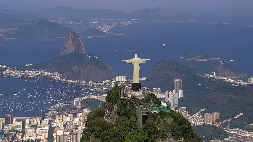 Aerial view of Botafogo Bay and Sugarloaf Mountain, Rio de Janeiro, Brazil | Shutterstock HD Video #12917132