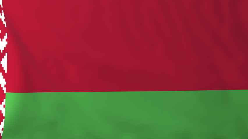 Flag of Belarus, slow motion waving. Rendered using official design and colors. Highly detailed fabric texture. Seamless loop in full 4K resolution. ProRes 422 codec.