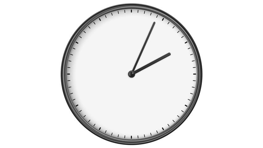 Clock Without Numbers. Hd 1080. Stock Footage Video (100