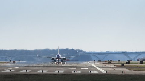 Plane Taking off at Reagan National Airport