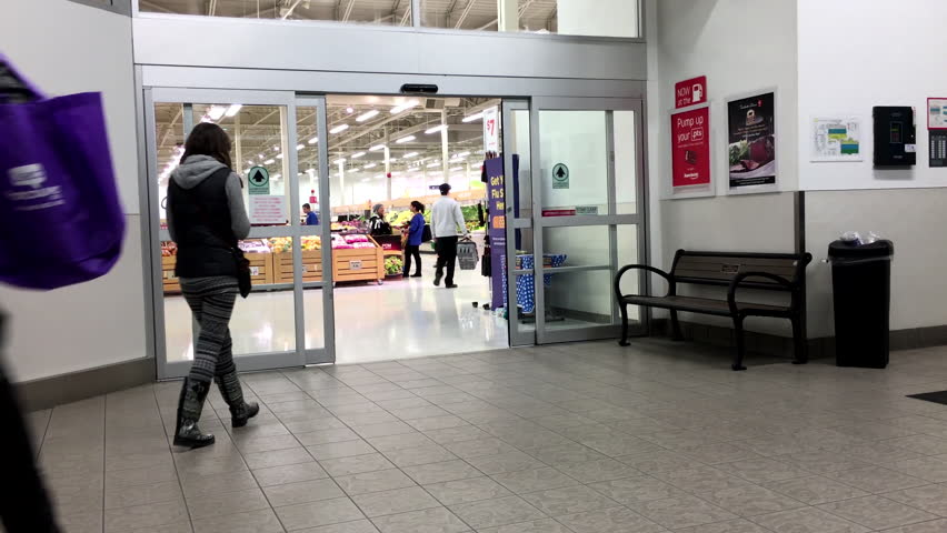 Coquitlam BC Canada - November 03 2015  People With Shopping Cart Walking Through The Doors At Superstore In Coquitlam BC Canada With 4k Resolution ... & Coquitlam BC Canada - November 03 2015 : People With Shopping ...