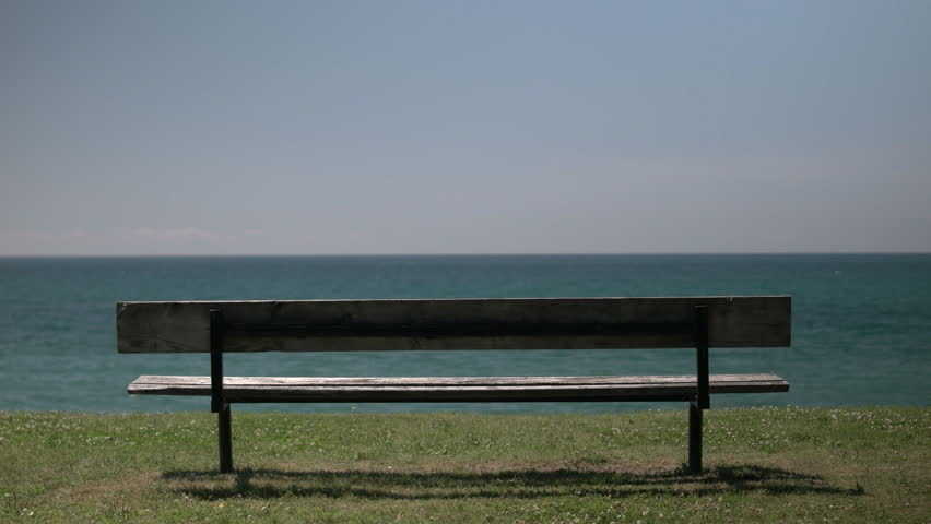 Video Bench Part - 24: Empty Bench Overlooking A Body Of Water And Shoreline Stock Footage Video  13025207 | Shutterstock