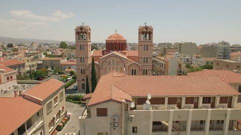 Aerial shot of Church in Limassol, Cyprus