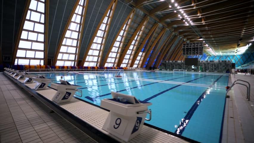 KAZAN, RUSSIA   27 JULY 2015: 16th FINA World Championships, Walk Along A Pool  Of Aquatics Palace. . Stock Footage Video 13047347 | Shutterstock