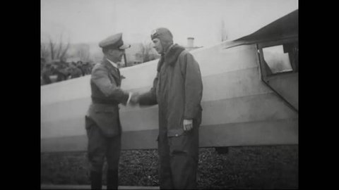 CIRCA 1920s - Charles Lindbergh makes a historic flight from Washington D.C., to Mexico City in 1927.