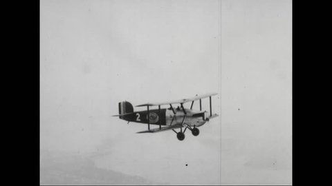 CIRCA 1910s - Air mail is delivered for the first time in 1918 by aircraft.