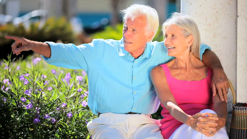 Attractive senior couple relaxing