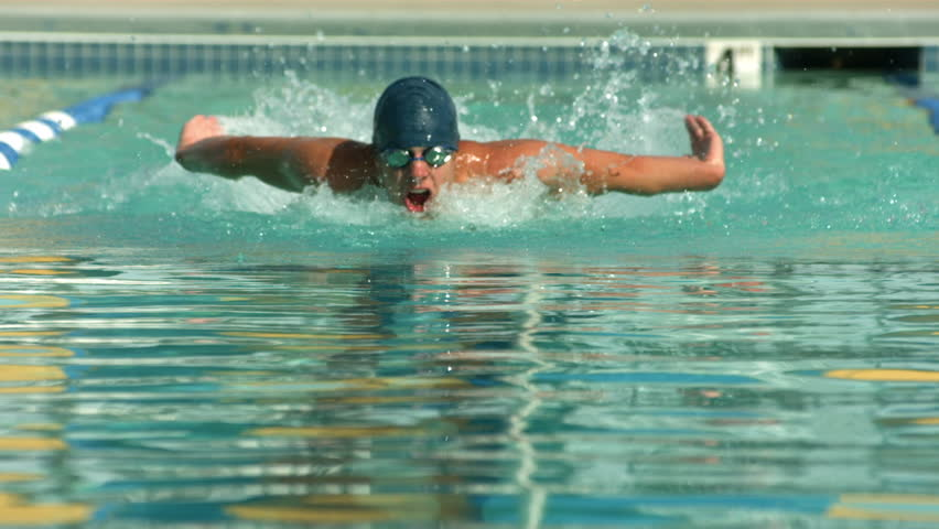 Cinemagraph - Swimmer doing freestyle stroke. Looping Motion Photo.  #13096967