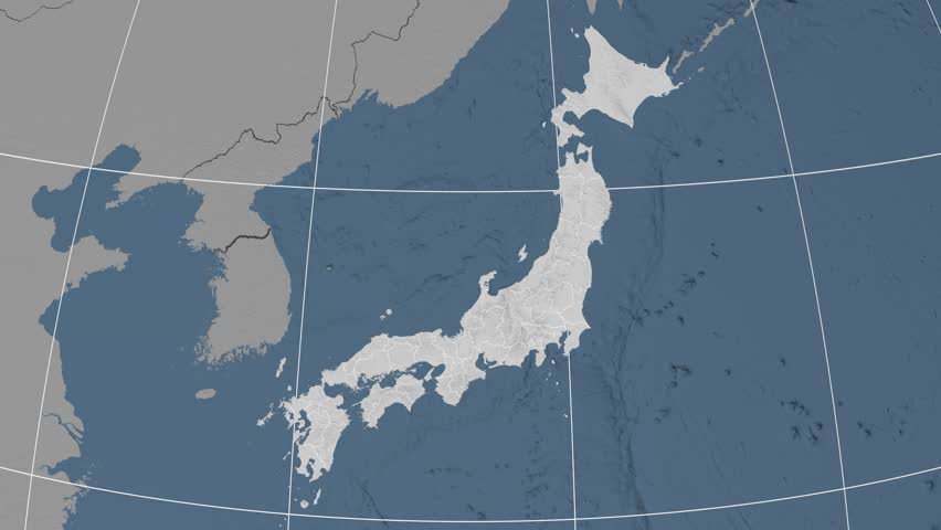 Tokyo Metropolis Extruded On The Elevation Map Of Japan Elevation - Japan elevation map