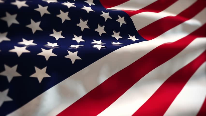 USA Flag Transition LtoR With Alpha/Matt .