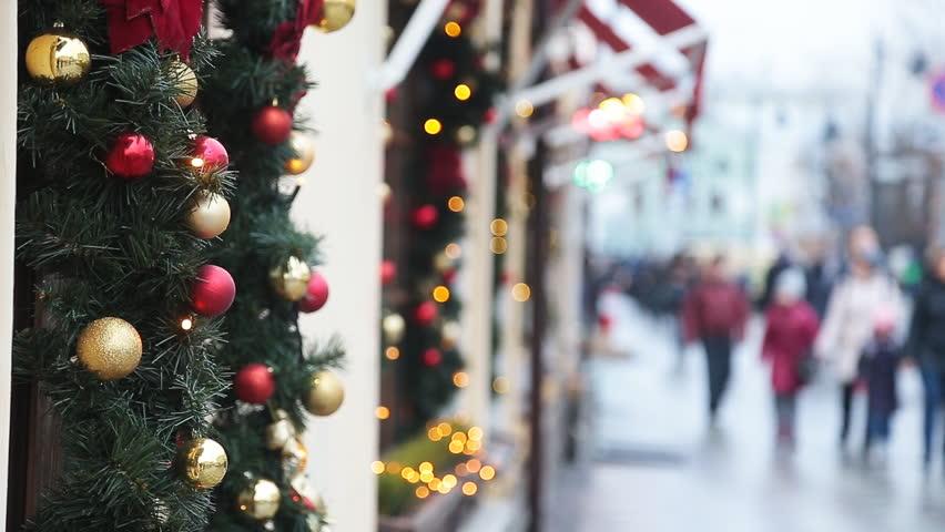 Christmas street decor in New York