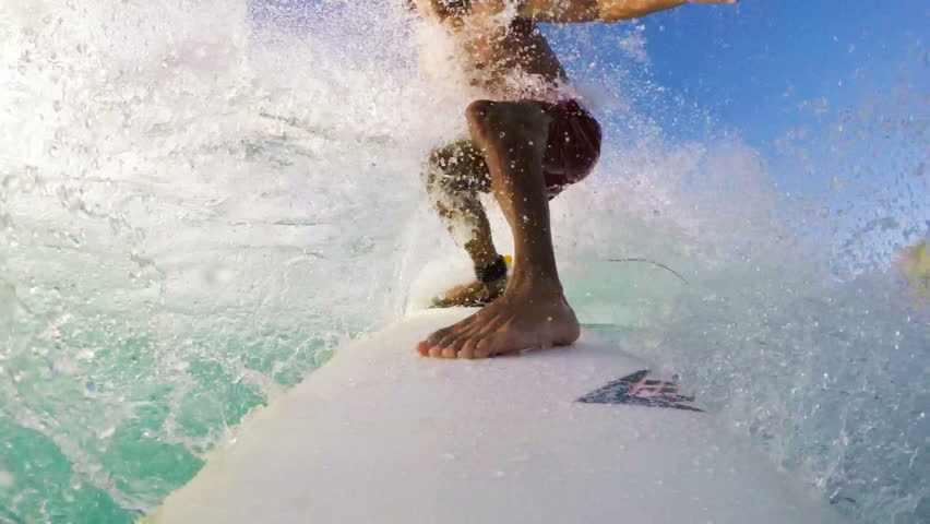 POV Surfing (Slow Motion) | Shutterstock Video #13205453
