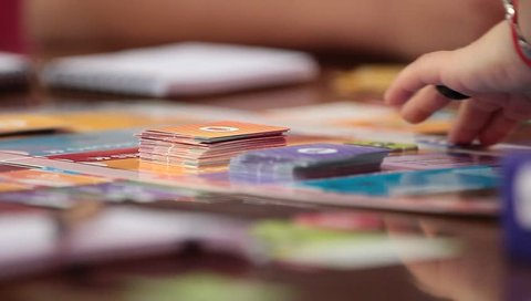 BOARD GAME - A detailed, close up shot of the board of a colorful board game. - Santiago, Chile, July, 2014