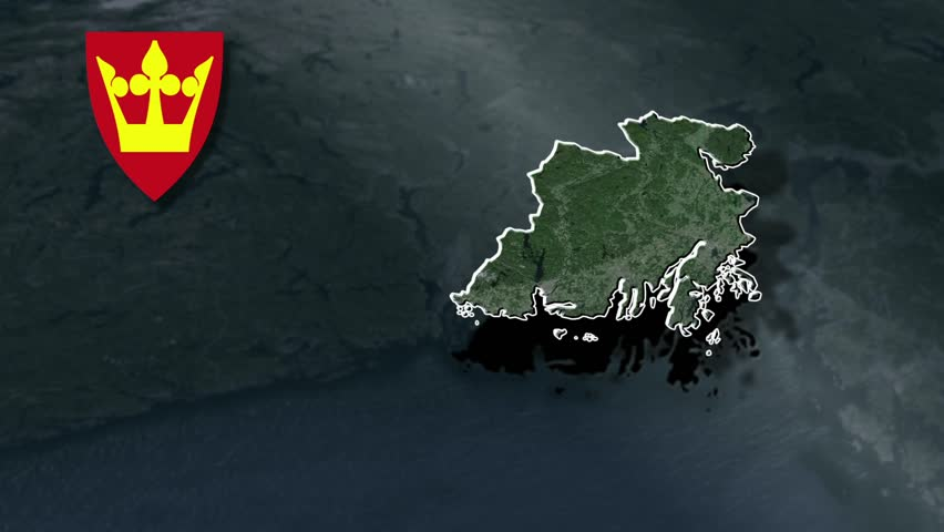 VestAgder Whit Coat Of Arms Animation Map Counties Of Norway - Norway map hd