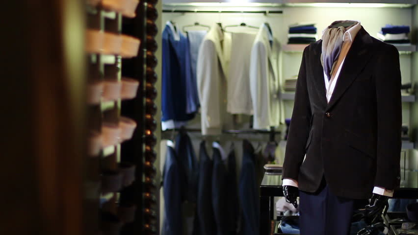 Interior of Mens Clothing Store  Stock Footage Video (100% Royalty-free)  13292597 | Shutterstock