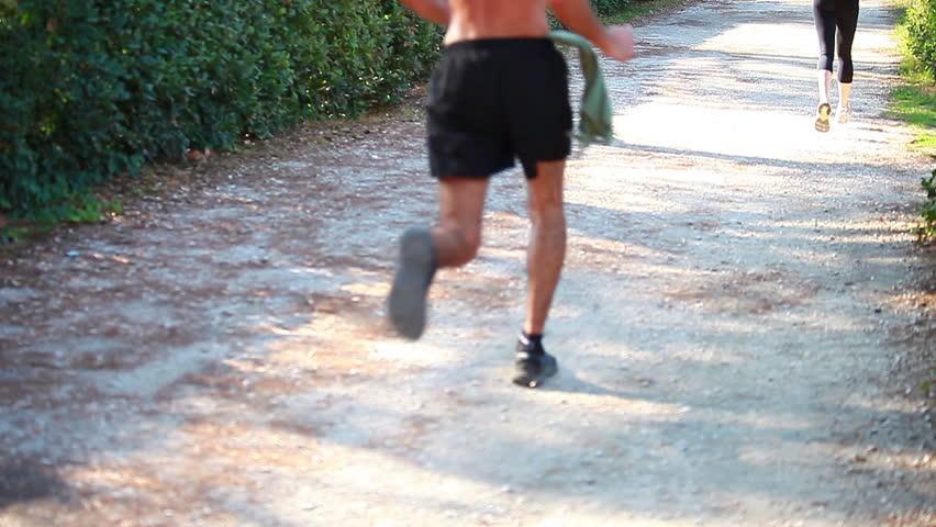 Running at park - good habit #1332787
