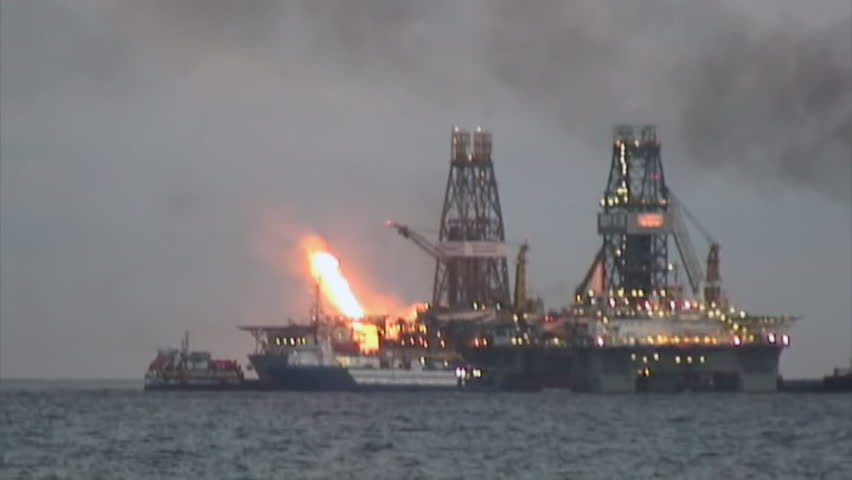 CIRCA 2010s - The Deep-water Horizon BP oil disaster in the Gulf Of Mexico.