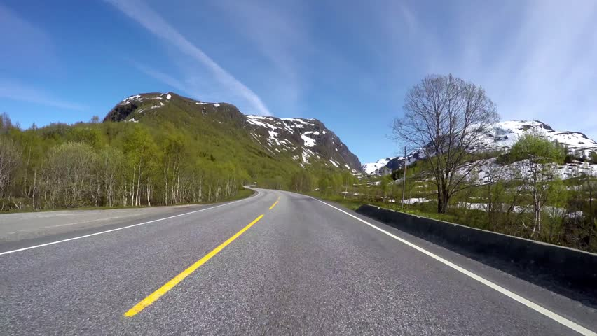 Driving a Car on a Road in Norway | Shutterstock HD Video #13380023