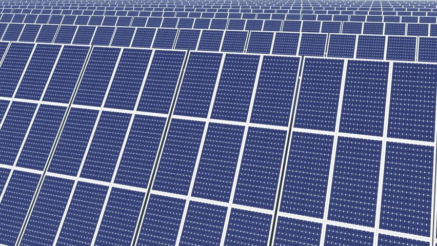 4k Solar panels,green free clear energy. cg_03204_4k