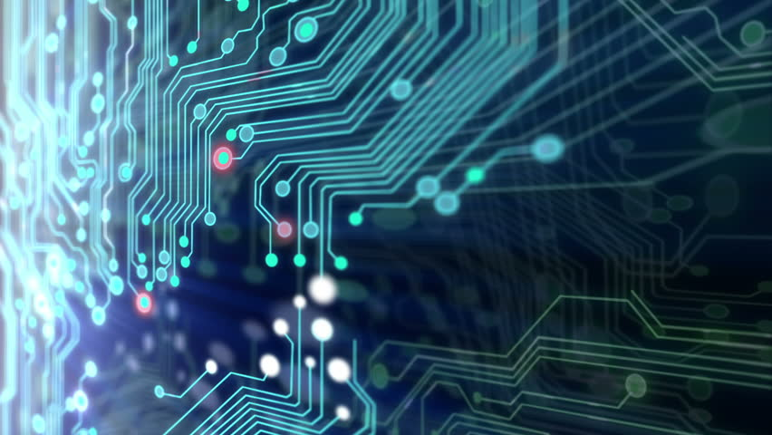 Animated printed circuit board background. #1339423