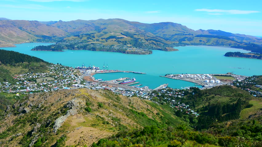 Christchurch Wallpaper: Lyttelton Stock Video Footage