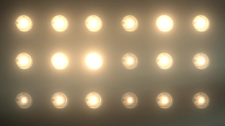 Bank of Stage Flood Lights Random Flashing - For use with Music Videos   Shutterstock HD Video #13416887