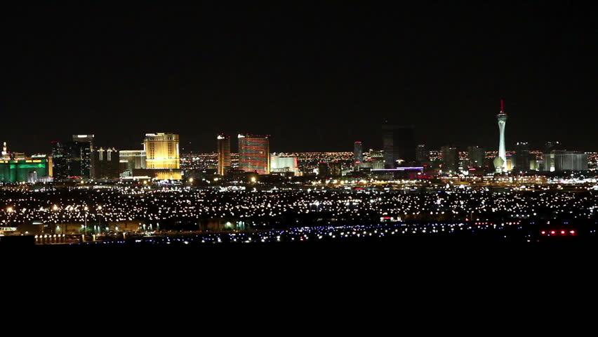 Las Vegas Strip View from Afar | Shutterstock HD Video #13476737