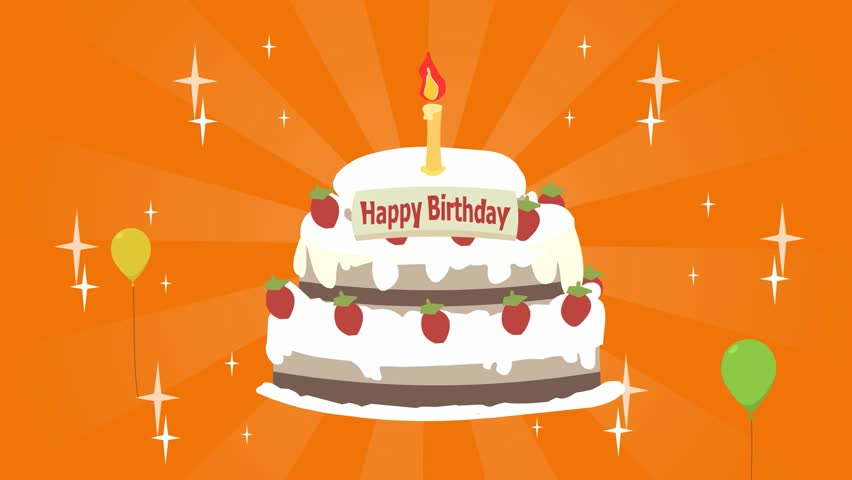 Stock video clip of sweet birthday cake cake with strawberries stock video clip of sweet birthday cake cake with strawberriesballoons shutterstock m4hsunfo