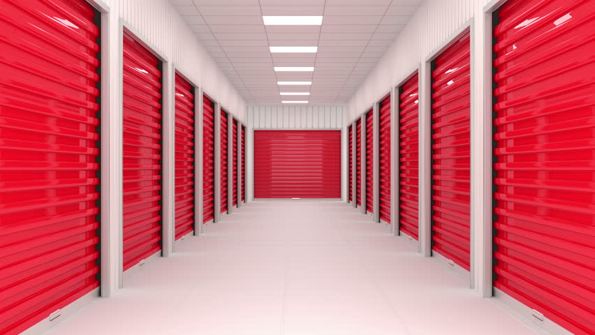 Stock Video Clip Of Corridor Full Of Storage Units With