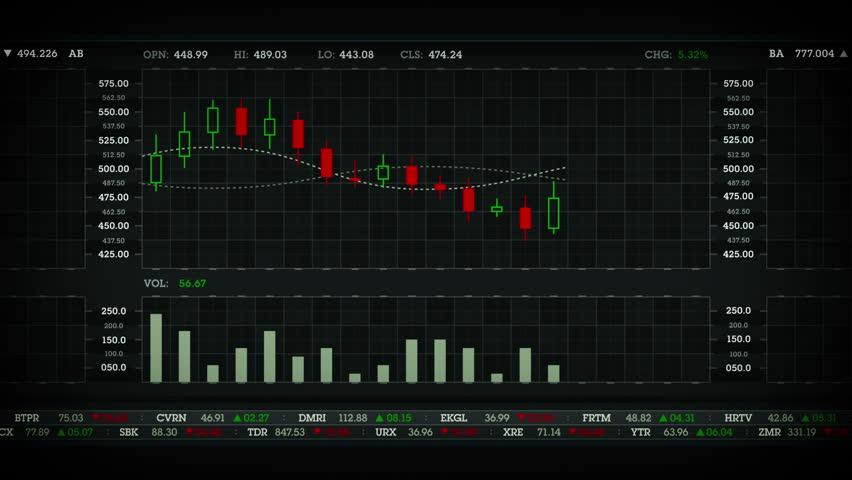 Stock Performance Chart Black | Shutterstock HD Video #13534907