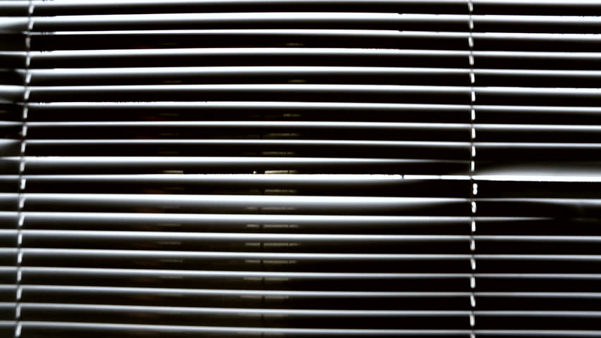 Horizontal Window Blinds Interior Of Stock Footage Video