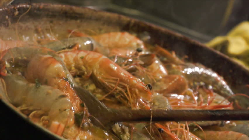 Slow motion of Gambas cooking. Find similar in our portfolio. | Shutterstock HD Video #13642007
