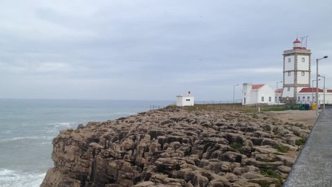 Lighthouse in the Carvoeiro Cape, Peniche, Portugal