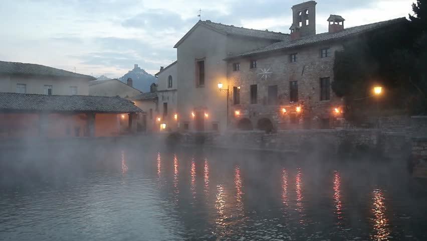 Bagno Vignoni Spa Bath Spa Town In The Central Square Toscany Italy ...
