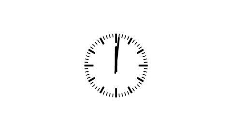 Motion background with spinning clock in 12 hour seamless loop. (full HD, 24s/30fps)